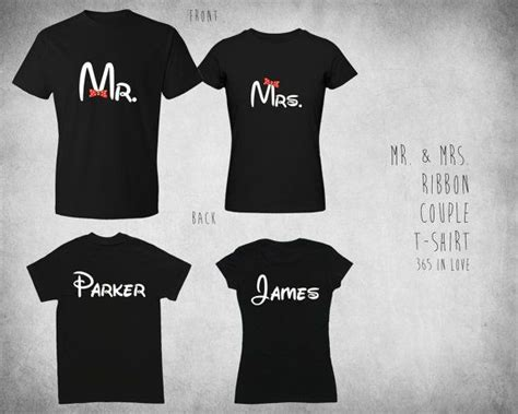Custom Made Shirts For Couples Custom Printed Back Mr Mrs Mickey And Minnie Shirt