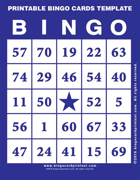 bingo card template with pictures printable bingo cards template bingocardprintout