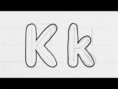 Letter K Sketches by How To Draw Writing Real Easy Letter K