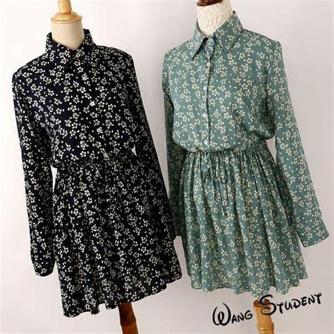 Baju Wanita Longdress Gadis 1 2016 musim semi baru listing wanita pakaian dress wanita lengan panjang katun twill mencetak