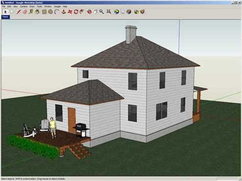 how do you draw a house 3d sketching with google sketchup