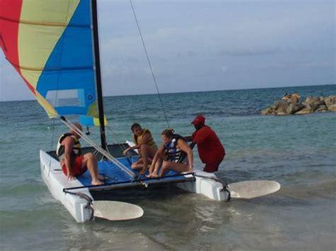 catamaran jamaica runaway bay the hobie cat on the beach picture of royal decameron