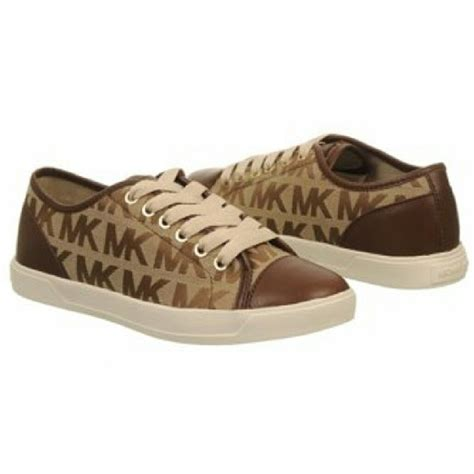 mk shoes outlet michael kors mk womens shoes sneakers flats brown