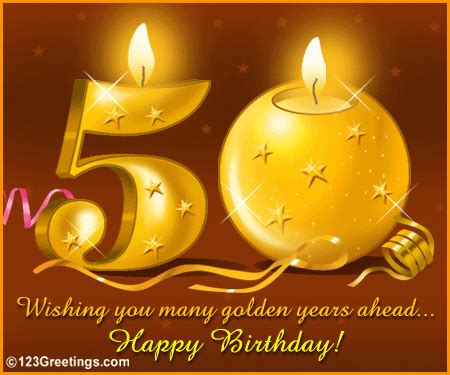 wish a happy 50th birthday! free milestones ecards