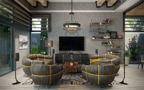 industrial theme industrial style living room design the essential guide