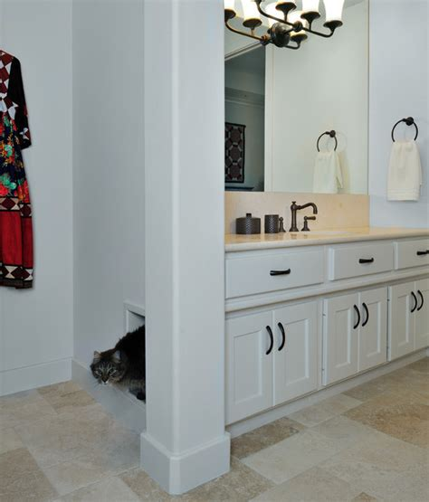 litter box bathroom master bath remodel with built in kitty litter box