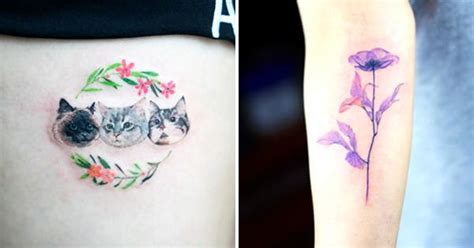 delightful small tattoos by sol tattoodo
