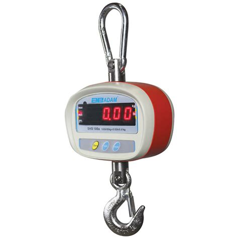Timbangan Flugid adam shs 100a battery operated crane scales 50 kg x 0 01 kg from cole parmer