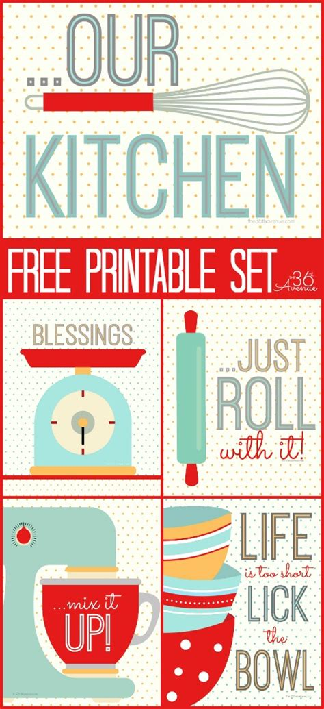 free printable free printable kitchen set the 36th avenue