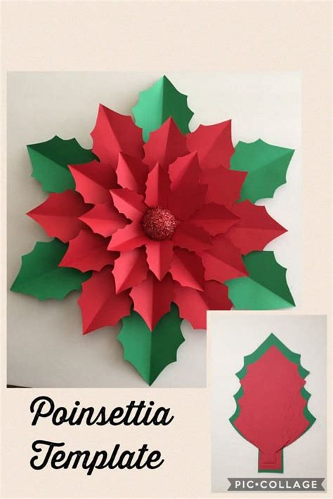 paper poinsettias made from recycled cards template 2059 best como hacer flores de papel images on