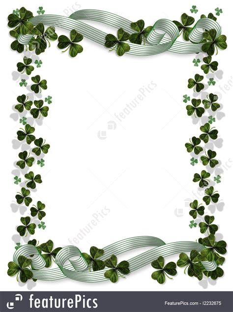 free online invitation template illustration of st pattys day card border