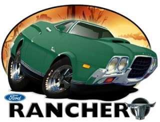 24 db 1957 ford ranchero antique truck cartoon car wall