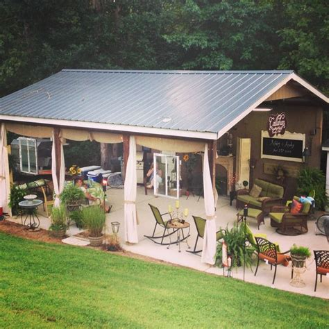 backyard party shed outdoor furniture design  ideas