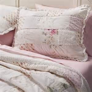 rachel ashwell simply shabby chic chenille pink hydrangea patchwork quilt sham quilt shabby