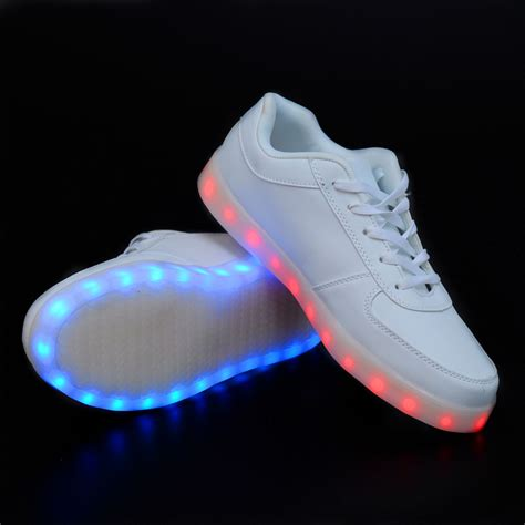 2015 light up led luminous shoes color glowing