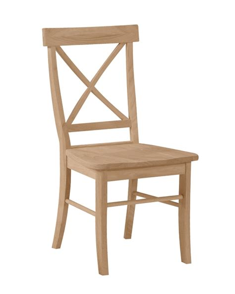 unfinished kitchen chairs chair design x back chair starkwood unfinished furniture starkwood