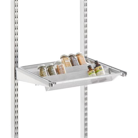 platinum elfa 18 quot gliding tiered shelf the container store