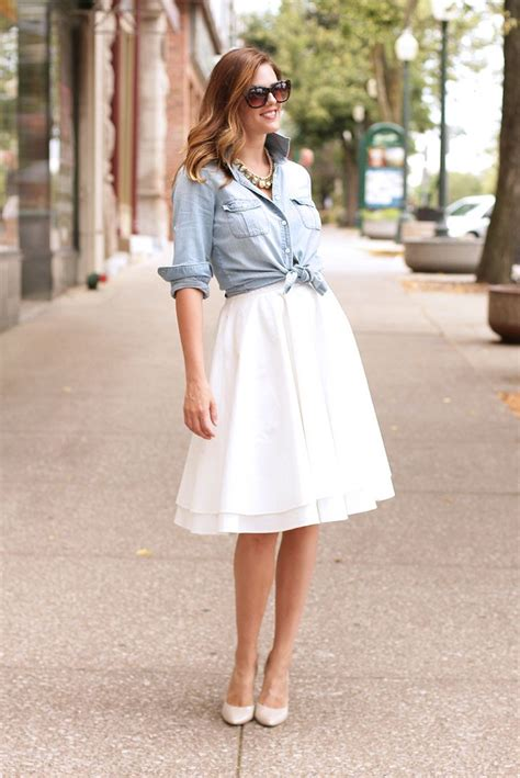 18465 White Flower Denim Skirt 1000 ideas about white skirt on white