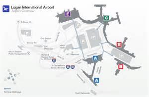 Boston Terminal Map by Boston Logan Airport World Airline News
