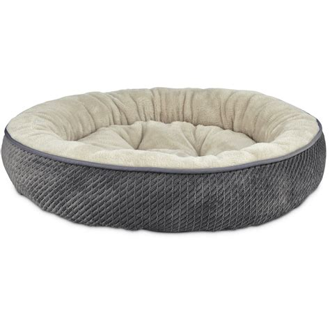 petco cat beds harmony textured round cat bed in dark grey petco