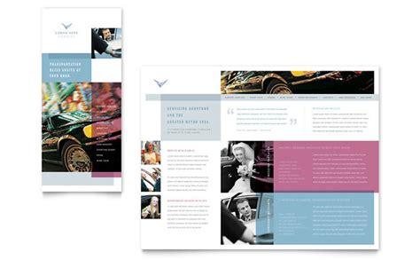 service brochure template limousine service brochure template design