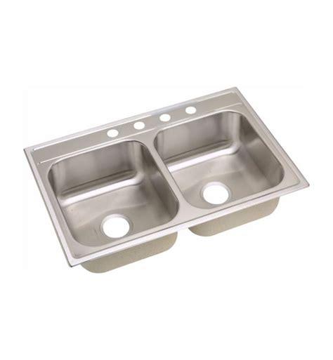 dayton equal bowl kitchen sink elkay dpc233221 dayton 22 quot equal bowl drop in