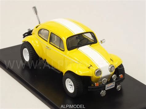 yellow baja bug neo volkswagen baja bug 1969 yellow 1 43 scale model