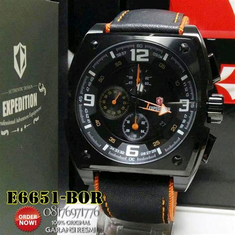 Expedition Original Sporty jam tangan expedition e6651 pria leather model kotak sporty