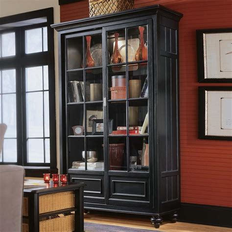 black bookcases with glass doors black antique bookcases with glass doors design trends