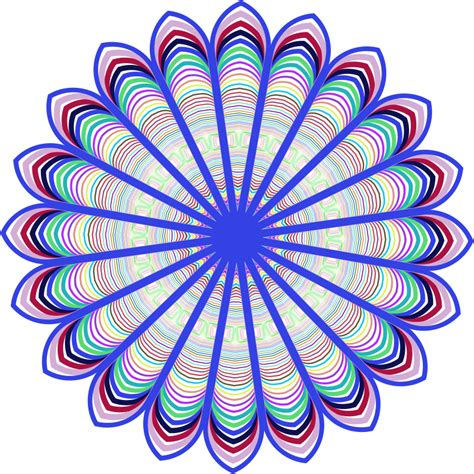 art design clipart prismatic mandala line art design