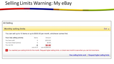 ebay seller account ebay selling limits payment holds how to sell on ebay