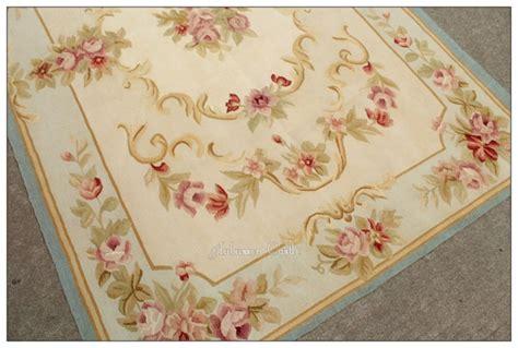 4x6 pastel blue ivory aubusson area rug shabby pink