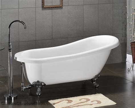 claw footed bathtubs 61 quot acrylic slipper clawfoot tub classic clawfoot tub
