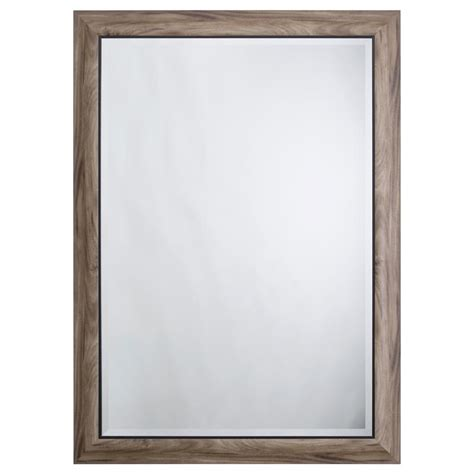 Home Interior Mirrors Yosemite Home Decor Mirror With Frame In Gray Wood With