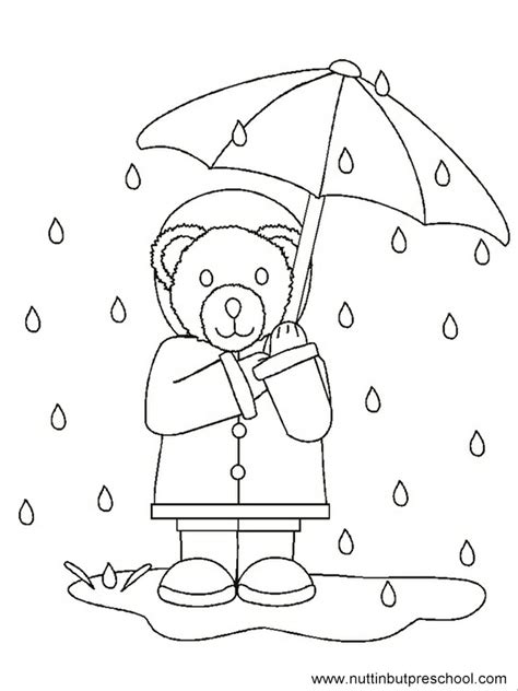 Rainy Day Coloring Pages For Preschoolers free coloring pages of image of a rainy day