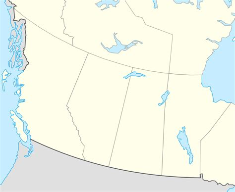 maps of western canada file western canada location map svg