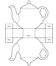 teapot template printable teapot card template pdf images