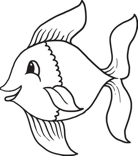 free printable cartoon fish coloring page for kids