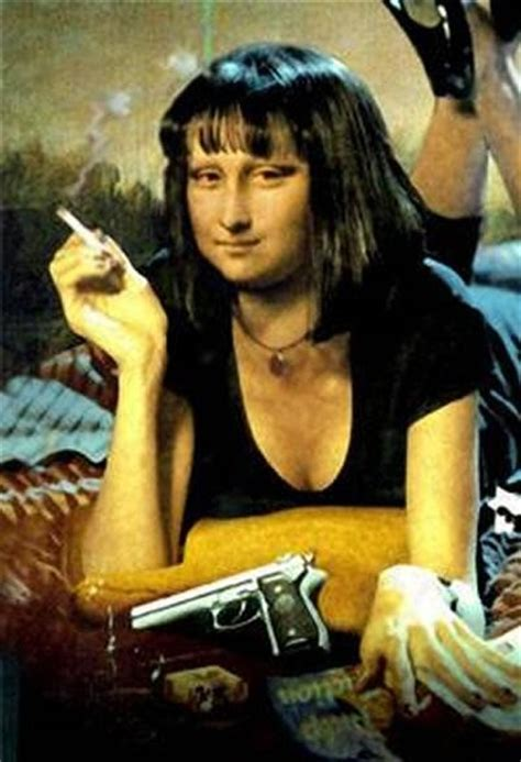 mona and mia gallery pulp fiction monalisa mona lisa pinterest colagens