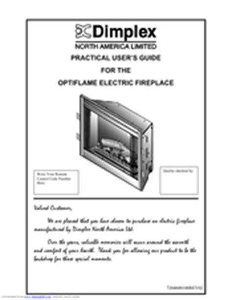 dimplex optiflame electric fireplace manuals
