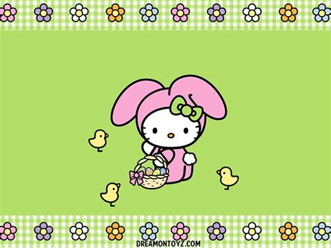 hello kitty easter wallpaper free cartoon graphics pics gifs photographs hello