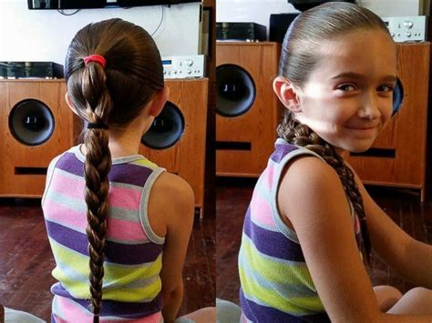 9 year old little girl hair braided witb weave florida father creates daddy daughter hair factory class