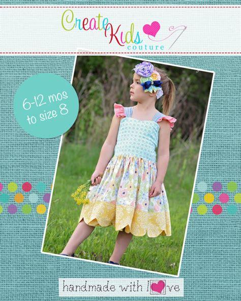 etsy lz pattern larae s scalloped dress top pdf pattern sizes 6 12m to 8