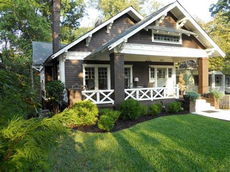 white trim craftsman bungalow house part of the salt bungalow with dark brown siding and cream trim i d add