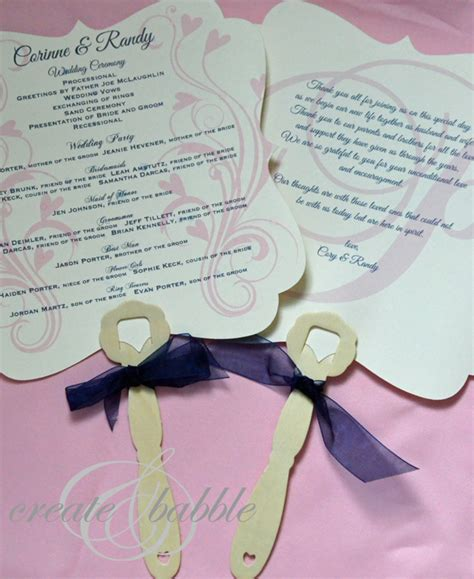diy wedding program fans diy wedding programs create and babble