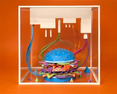 Papercraft Food - papercraft industrial burger neatorama