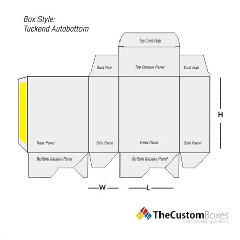 Tuck End Auto Bottom Boxes Custom Packaging Australia Auto Lock Bottom Box Template