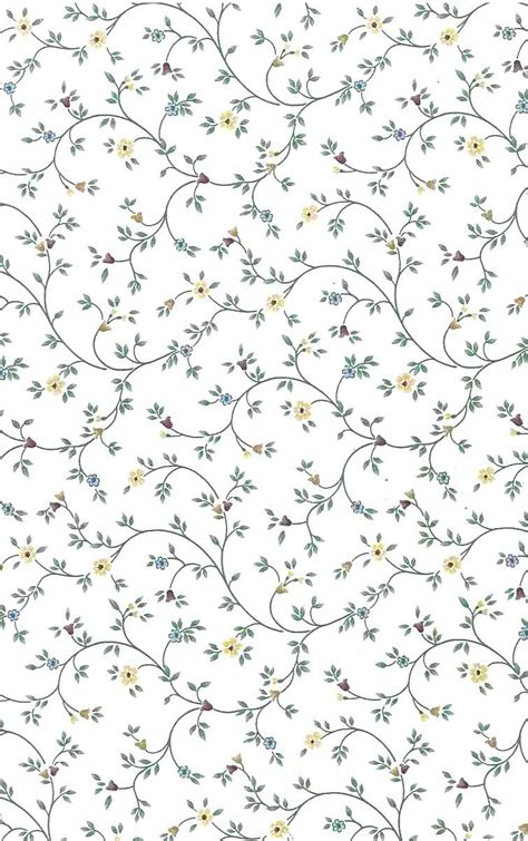 small pattern vintage wallpaper vines small floral vintage wallpaper yellow red green
