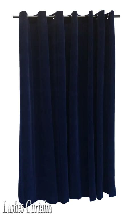 144 inch long curtain panels navy blue 144 inch long velvet curtain panel w grommet top
