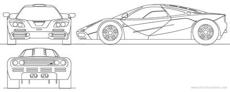 mclaren f1 drawing blueprints gt cars gt mclaren gt mclaren f1